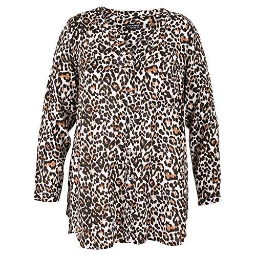 Via Appia Due dames stijlvolle blouse met dierenprint