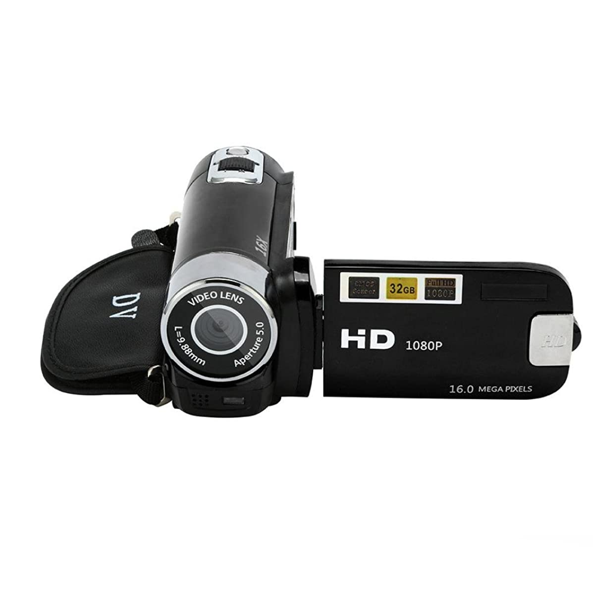 JPOQW Video Camcorder HD 1080P Handheld Digital Camera 16X Digital Zoom with External Microphone Digital Camcorders