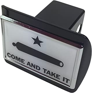 Come and Take It METAL emblem on Black METAL Hitch Cover