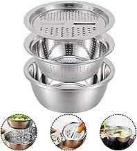 S-Chihir 3in1Stainless de cuisine en acier Râpes, multi-fonction Râpe à fromage avec bassin de drainage en acier inoxydabl...
