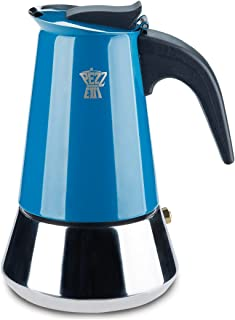Pezzetti Multi Color Stainless Steel Induction StoveTop Moka Espresso Coffee Maker - 4 Cup (Multi, 4 Cup)