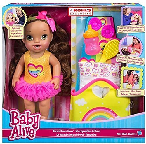 Baby Alive Darcis Dance Class braun Hair Doll by Baby Alive