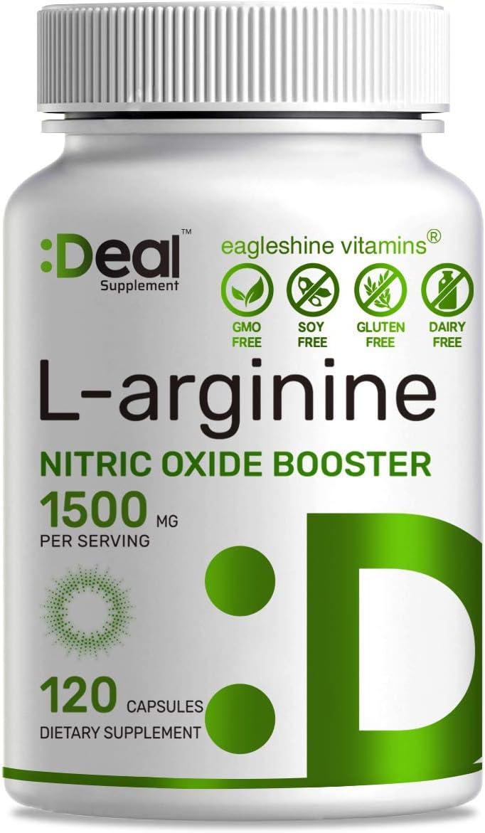 Muscle Builder L-Arginine 1500 mg Capsules Direct stock discount Arginine AA Fresno Mall 120 3-1