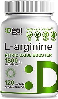 Extra Strength L-Arginine 1500 mg, 120 Capsules, 3-1 Arginine Complex (L-Arginine and L-Citrulline with AAKG), Nitric Oxid...