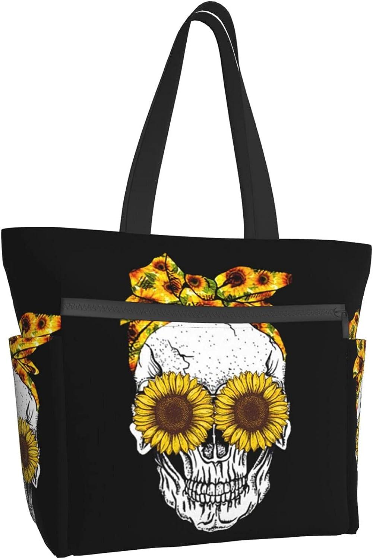 Women Tote Bag Aesthetic Suger Sunflower Handbag Ranking TOP9 Skull Shoulder Trust