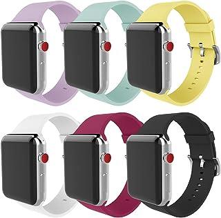 MITERV متوافق مع سوار ساعة Apple 38 مم 40 مم 42 مم 44 مم حزام استبدال من السيليكون الناعم لسلسلة ساعات Apple Watch Series ...