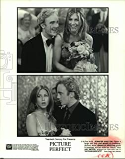 Historic Images - 1997 Press Photo Actors Jennifer Aniston and Jay Mohr in Picture Perfect Movie