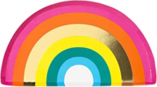 Pride Parade Pride Rainbow Paper Plates Party Plates Shaped Plates Disposable Plates 7 x 7 Pak 24