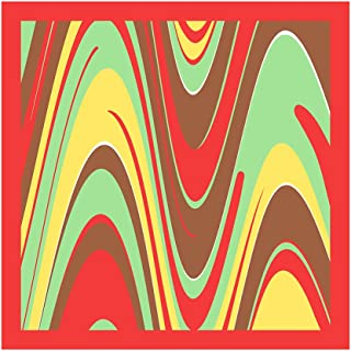 tessago foulard dis 62607 var arancio mis cm 90 x 90 pl 100% made in italy