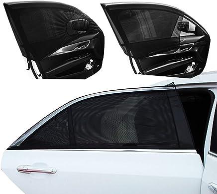 Universal 2pcs malla de la ventanilla del coche trasera Sun Shade para niños adultos niños pequeños