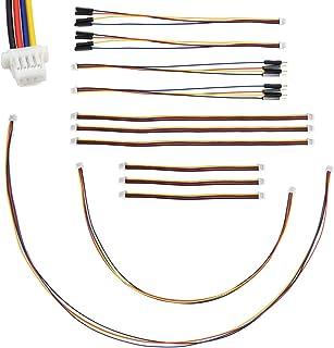 elechawk I2C Qwiic Cable Kit Stemma QT Wire for SparkFun Adafruit Development Boards Sensor Board Breakout Breadboard 4 Pi...