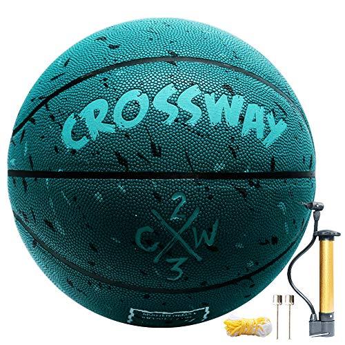 "Street College Basketball Size 5-6-7 Indoor Outdoor Basketball 27.5"", 28.5"", 29.5"" Composite PU Basketballs for Men, Women,Youth, Kid, Junior"