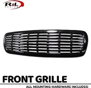 R&L Racing Black Finished Front Grill Horizontal Billet Hood Bumper Grille 1997-2004 For Dodge Dakota/Durango