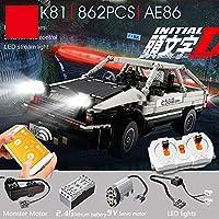 Zenghh テクニックスポーツカー自動車の建物キット、4x4のモンスターモーター電動ドリフトカー2.4Gリモートコントロール4WDスケールモデルレーシングカーDIY建設互換性のおもちゃセットを収集デコレーション