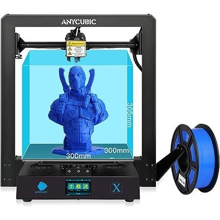 ANYCUBIC MEGA X 3Dプリンター 本体 アップグレード版 大容量 印刷サイズ300*300*305mm 金属製 高精度 操作簡易 DIY 家庭用 教育用 3d プリンタ 専門者/初心者/学校等向け
