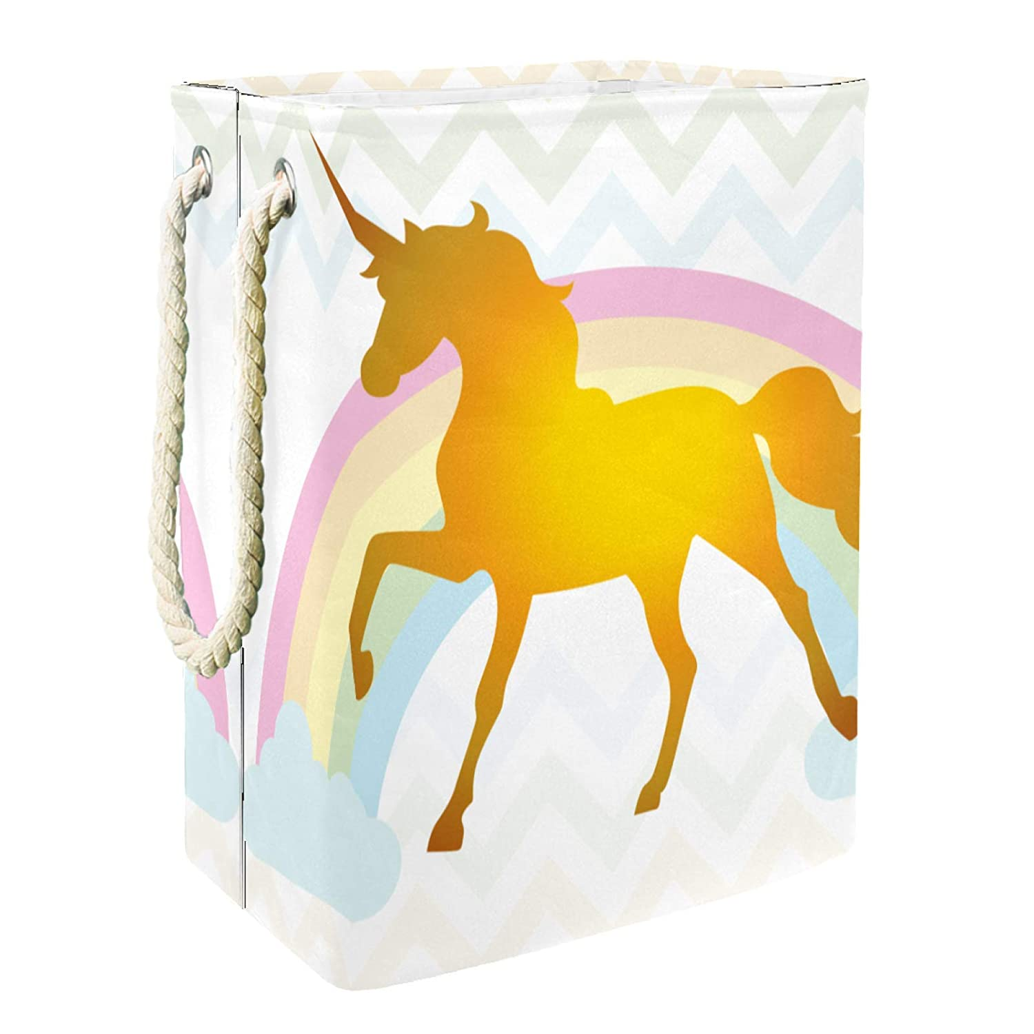 Storage Basket Collapsible Cute Super San Francisco Mall special price Unicorn Clothes Laun Dirty 252