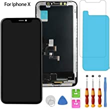 for iPhone X Screen Replacement OLED Display Touch Screen Digitizer Including Repair Kits, Protector Glass, Waterproof Adhesive, Compatible for iPhone X Screen