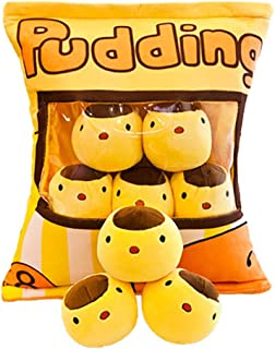 Guanan Cute Throw Pillow, 8PCS Pet Snack Stuffed Toys, Removable Fluffy Kawaii Kitty Cat Plush Snack Pillow Pudding Decora...