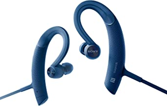 Sony MDR-XB80BS Blue Premium Waterproof Bluetooth Wireless Extra Bass Sports in-Ear 7 Hr of Playback Headphones/Microphone (International Version)