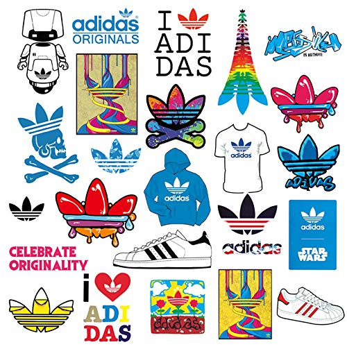 YZFCL Adidas Tide Brand Suitcase Sticker Personality Waterproof Suitcase Skateboard Mobile Phone Guitar Sticker