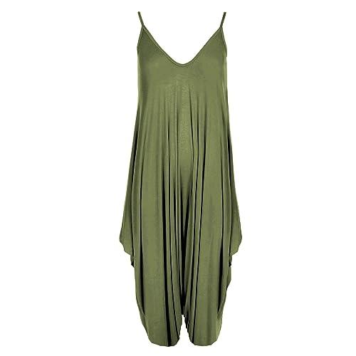 d64f6fd971c New Ladies Cami Lagenlook Romper Loose Harem Jumpsuit Playsuit Dress Plus  Size (XXL -(