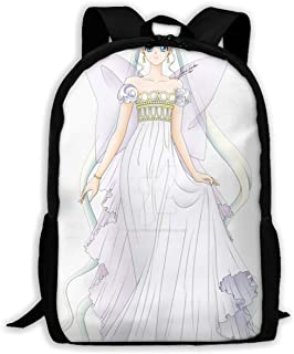 Custom Sailor Moon White Casual Backpack School Bag Travel Daypack Gift