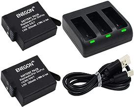 ENEGON Battery  2-Pack  Rapid 3-Channel Charger for GoPro HERO  2018  GoPro HERO 8 7 6 5 Black  Compatible with Firmware v01 55  v01 57 and v02 00  v02 01  v02 51  v02 60