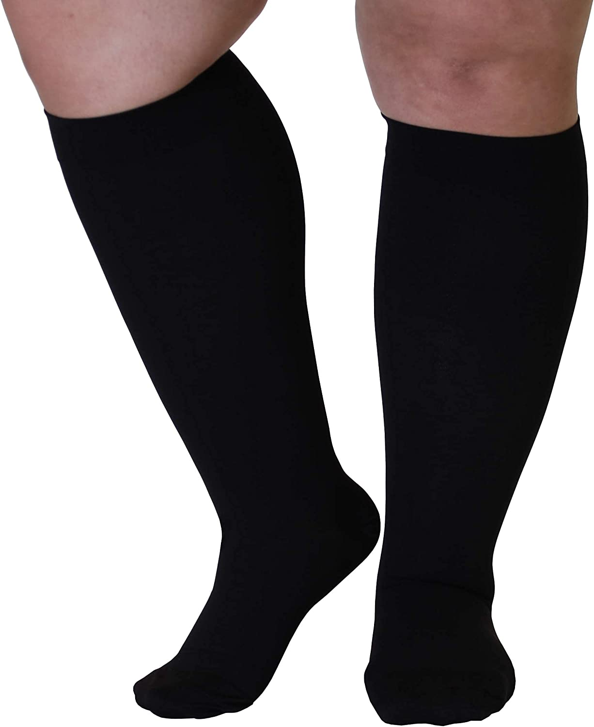 5XL safety Free shipping / New Mojo Compression Socks 20-30mmHg Ankle for Extra XX-Wide Cal