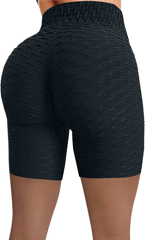 Yoga Pants for Women High Waist,Biker Workout Shorts Butt Lift Tummy Control Running Athletic Yoga Shorts