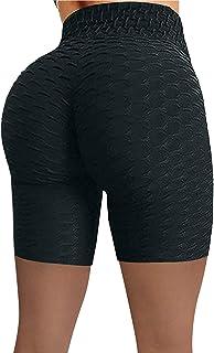 HFStorry Kvinnor hög midja yogabyxor stretch löpning träning yoga leggings magkontroll sport tights rumplyft sexig gym leg...