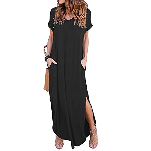 1547e21804cee Simple Black Maxi Dresses: Amazon.com