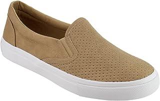 dd3c1bc261c SODA Women s Preforated Slip On Sneakers