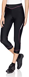4ucycling Women Premium 3D Padded Breathable ¾ Cycling Tights ,Women's Running..