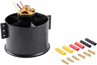 uxcell 90mm 6 Blades Ducted Fan EDF Motor Set Jet Engine with 1750KV RC Brushless Motor for RC Airplane