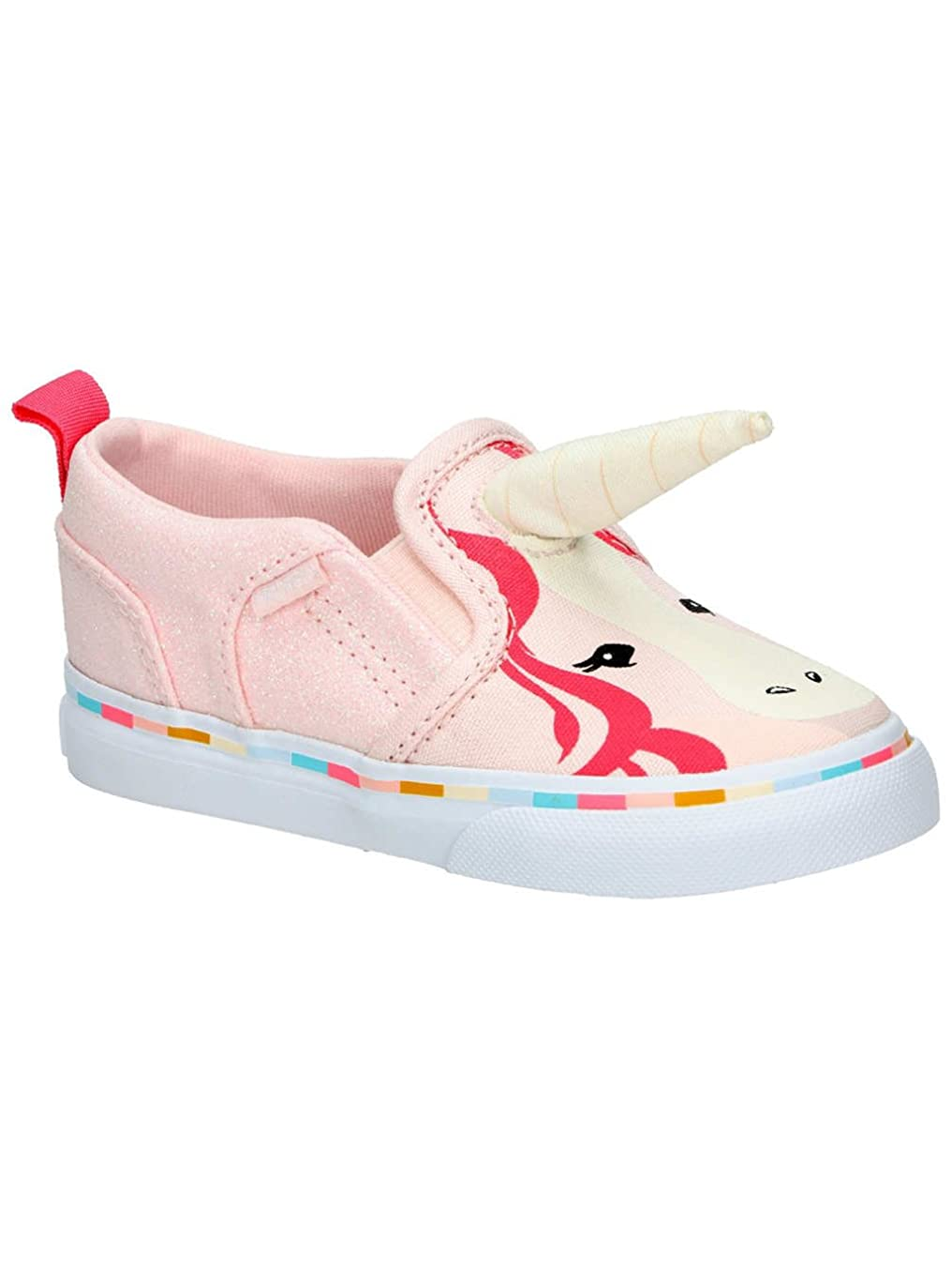 Vans Toddler Girls Asher V Pink Unicorn with Horn Sneakers
