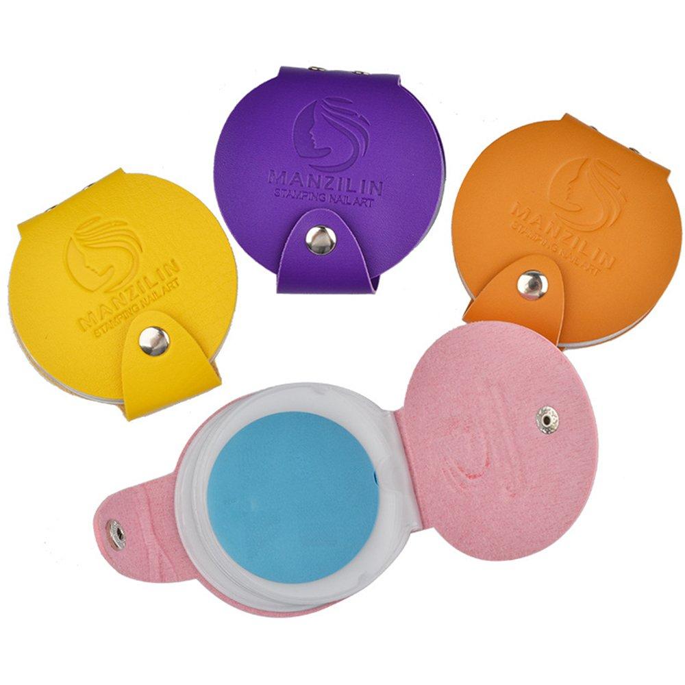 磁器スキルええスタンププレートケース イメージプレート収納ケース ネイルスタンプコレクションネイルツール12位(直径は5.6cmの円形スタンププレートに適する) (ピンク)