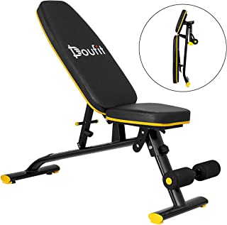 Adjustable Weight Bench, Doufit WB-01 Foldable Exercise Bench for Home Gym, Multi-Purpose Workout Incline Bench ( Capacity 310 Lbs)