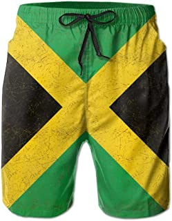 2b71023b8b5a Paint0 Men's Jamaica Flag Proud Jamaicans Tropical Quick Dry Board Shorts  Swimming Volley Beach Trunks