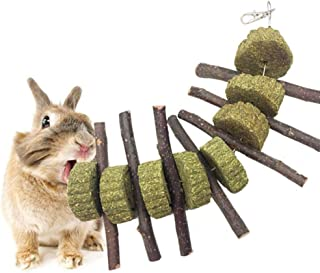 Brave669 Pet Supplies Pet Accessories Apple Wood Stick Grass Hay Cake Chew Toy for Hamster Rabbit Bunny Teeth Health, Pets are Good Friends of Mankind