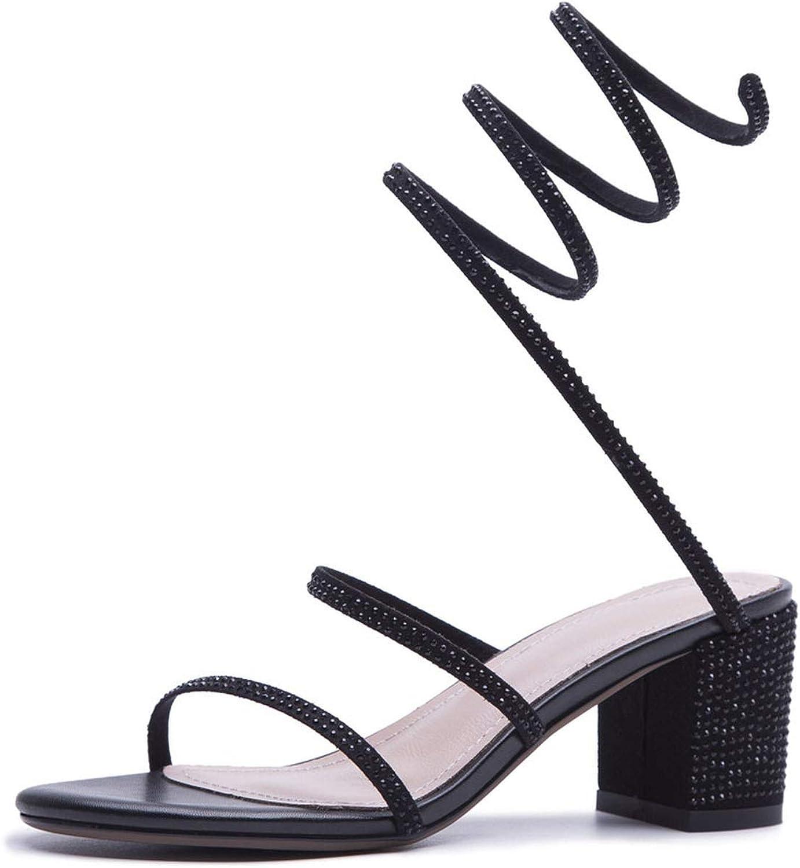 QianQianStore Summer Leather Women Elegant High Heels shoes Woman