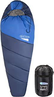 Display4top Premium Lightweight Mummy Sleeping Bag with Compression Sack - Portable, Waterproof,Comfort - Great for Outdoor Camping, Backpacking & Hiking (Blue)