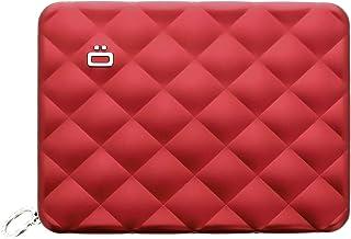 تصاميم اوزغون - محفظة من الألومنيوم لجواز السفر المبطنة - محفظة RFID بلوك للنساء - ما يصل إلى 10 بطاقات، جواز سفر، عملات ن...
