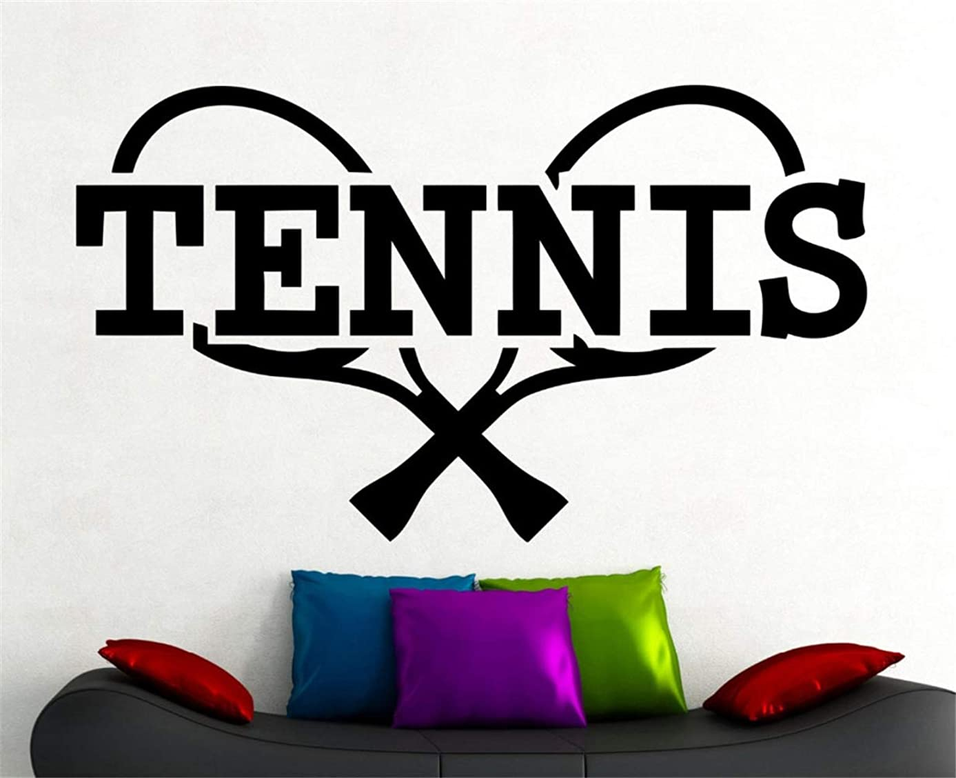 mauned Removable Vinyl Mural Decal Quotes Art Tennis Sports Logo Sticker Home Gym Decorations Bedroom Dorm Kids Room Décor