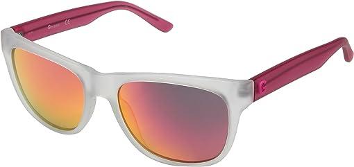 Matte Crystal/Pink Mirror Lens