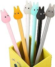 WIN-MARKET Gel Pens Set Fashion Cute Colorful Kawaii Lovely Cartoon Jelly color Totoro Rabbit Gel Ball Pens Office School Stationery (6PCS)