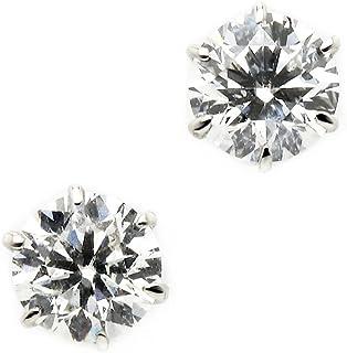 宝石の森 ダイヤモンド ピアス プラチナ Pt900 0.6ct ダイヤピアス Dカラー SI2 Excellent EXハート&キューピット エクセレント スタッド 一粒留め 左右セット シンプル