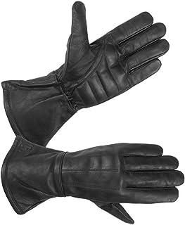 Hugger Men's Classic Motorcycle Gloves Seasonal Wind Stopper Lined Gauntlet