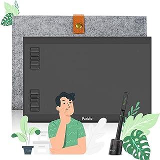 Parblo ペンタブ 10x6インチ ペンタブレット スマホAndroid6.0以上/Windows/Mac/タブレット対応 筆圧8192 充電不要ペン イラスト 初心者 入力デバイスとして使え デジタルアート用 OSU!ゲーム用 A610 ...