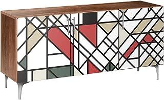 Nye Koncept 13005806 Organic Modernism Arc Sideboard44; Walnut & Chrome