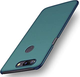 for OnePlus 5 A5000 Case, ACMBO [Sand Gravel Series] Ultra Thin Slim Fit [Anti-Drop] Shockproof Hard Plastic Phone Cases Cover Compatible for OnePlus 5 (1+5) 5.5 inch, Gravel Green